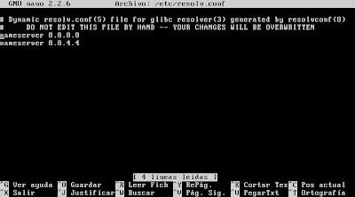 Configuración red equipo Linux Ubuntu Server 13.04