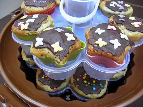 muffinki na maslance z czekolada