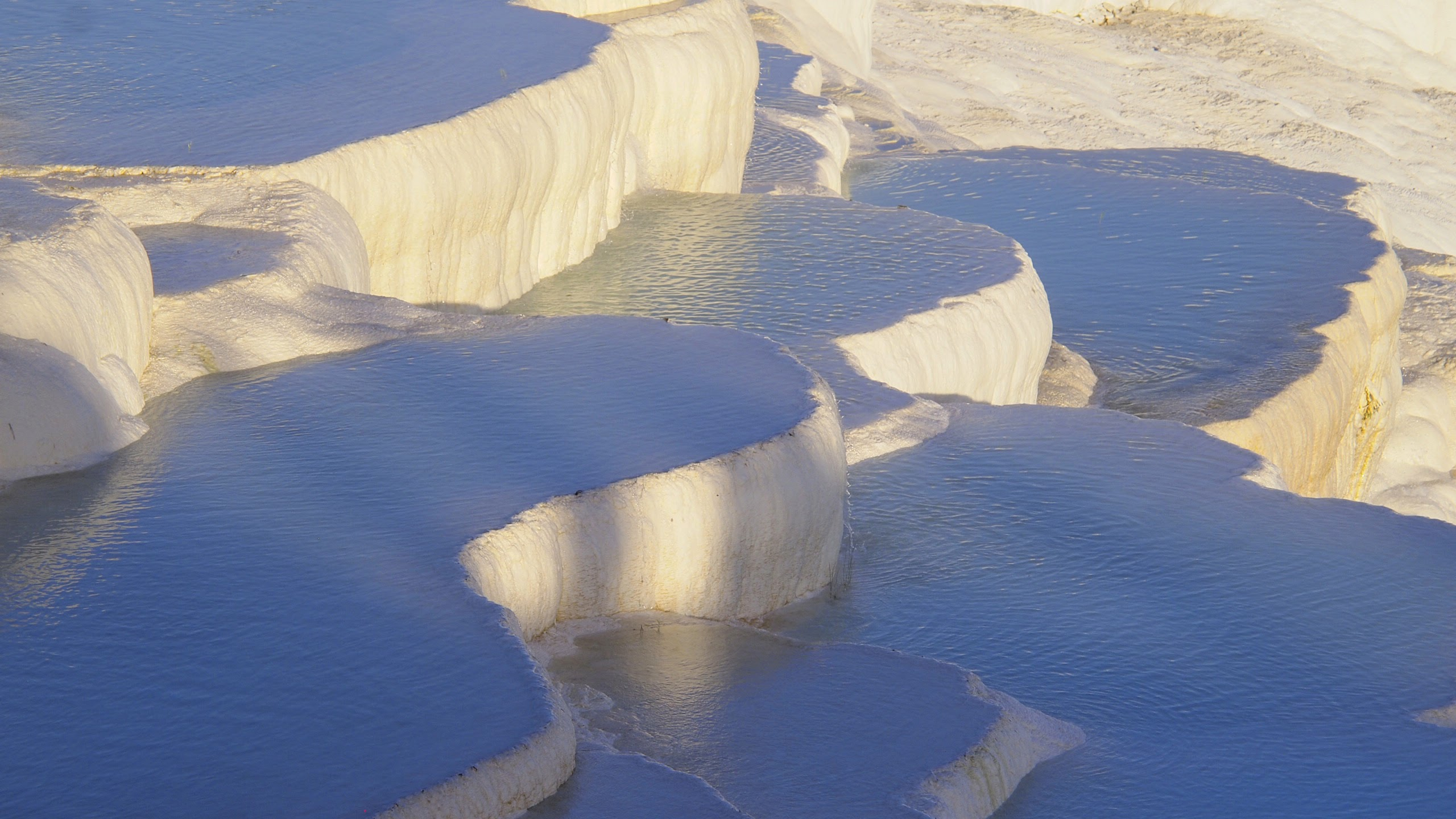 The travertine pools of Pamukkale