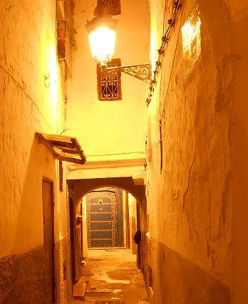 Medina von Tétouan bei Nacht