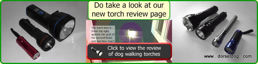 Dog walking torch review on Dorsetdog . com