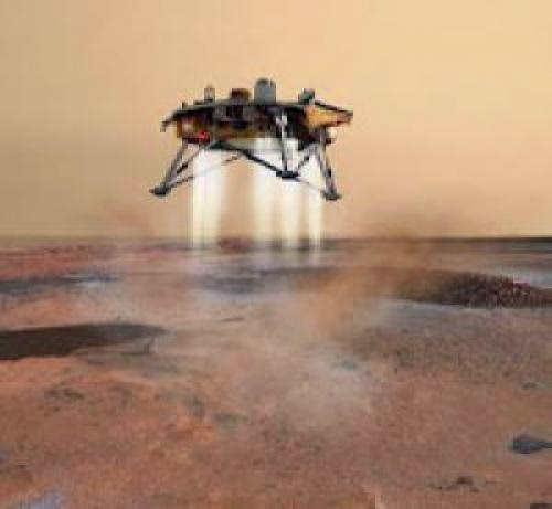 Nasa Phoenix Mars Lander Preparing To Touch Down