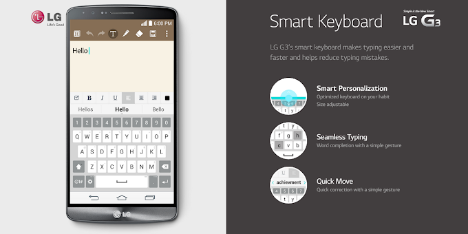 Smart Keyboard from LG G3 ported for rooted Android devices