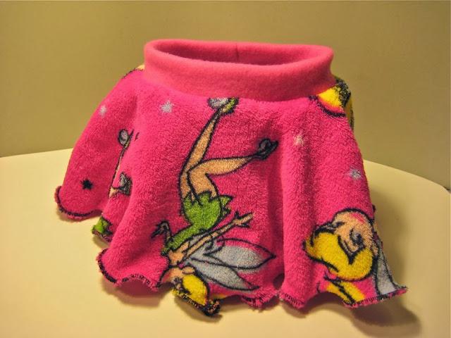 Tinker Bell Minky soaker w/Skirtie
