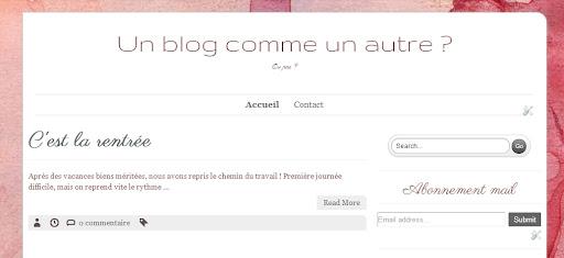 Un blog comme un autre ?