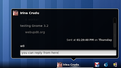 GNOME 3.2 chat notification