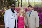 Celebrity Guest Keith Rhodes, 2014 Azalea Queen Kirsten Haglund, President Steve Coble