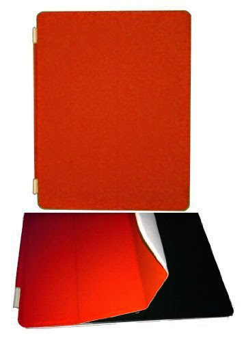 Orange Protective Magnetic Smart Cover Case and Stand for Apple iPad 2 3  &  4 Retina Display by GnG