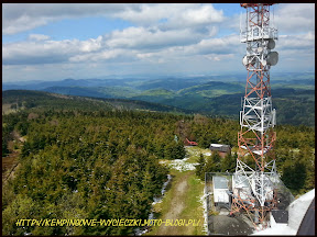Panorama z wieży widokowej.