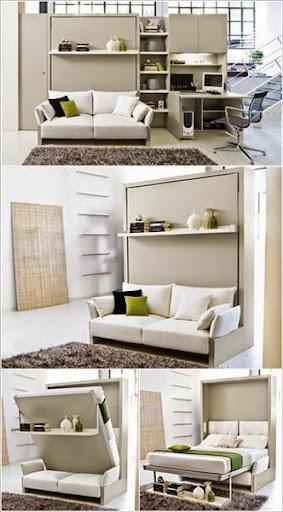 Thi công nội thất gỗ : Tận dụng không gian nhỏ với nội thất siêu gọn-7