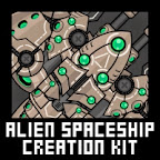 Alien Spaceship Modular Sprite