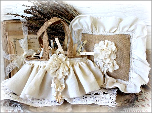 Vintage Wedding Burlap & Muslin
