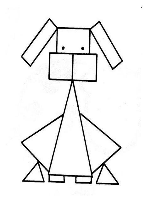 Dibujos De Animales Con Figuras Geometricas Para Colorear
