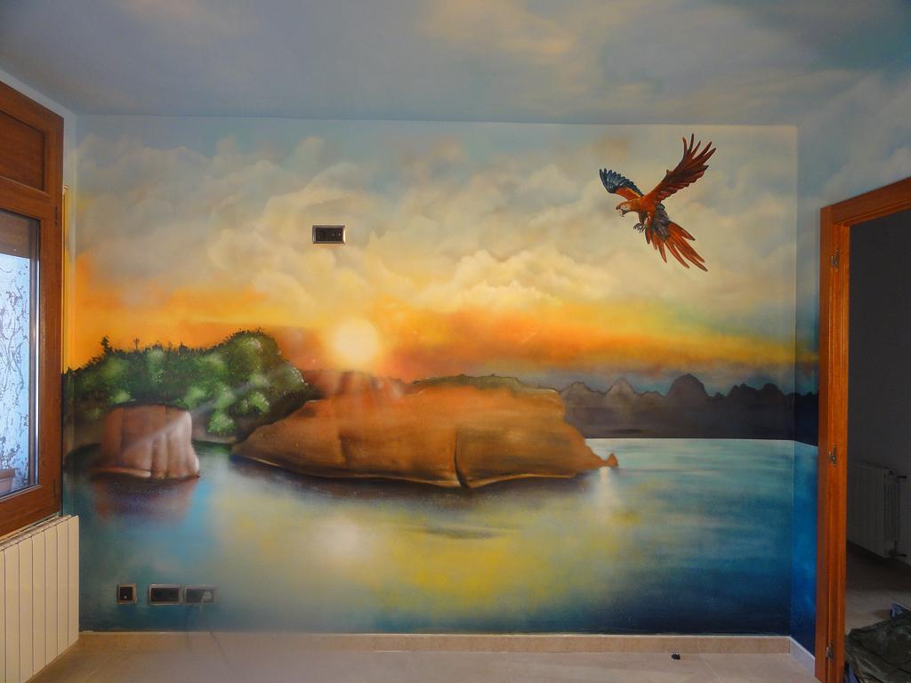 Berok graffiti mural profesional en barcelona mural for Murales de pared de paisajes