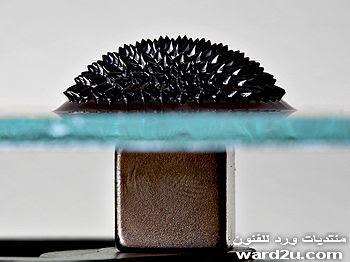 النحت على السوائل الممغنطه FerroFluid