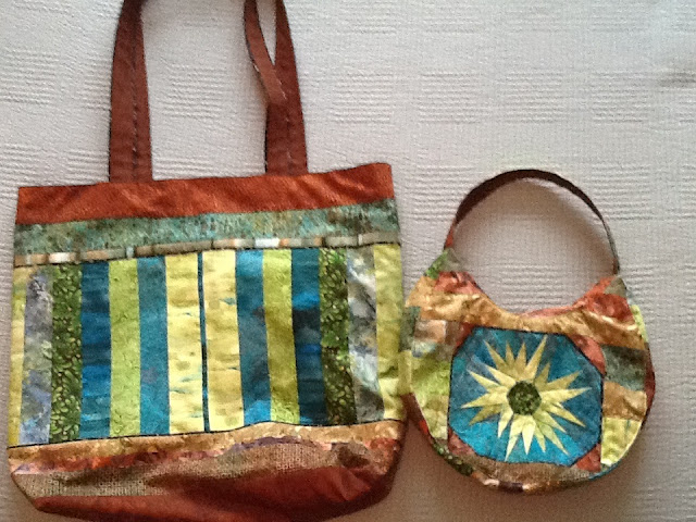 Earth and sky tote and bag
