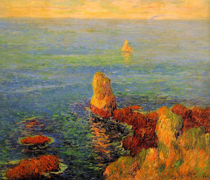 Henry Moret - Calm Sea at L'Ile de Groux, 1896