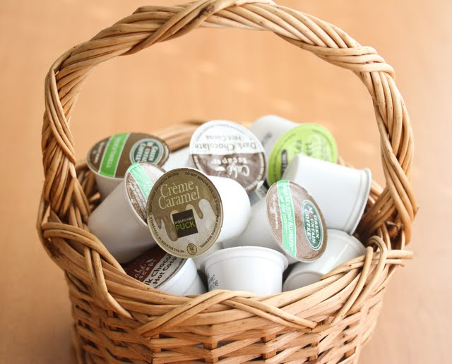 photo of a basket of k-cups