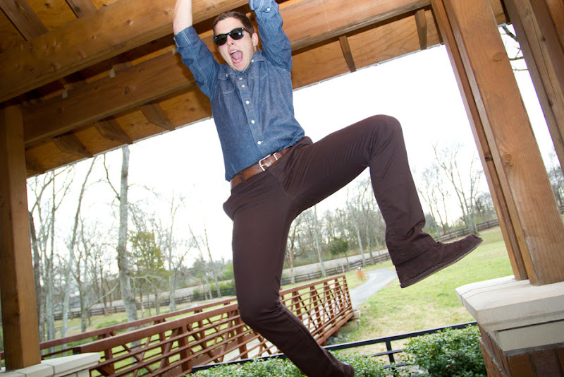 Brown BTW Pants: Hanging Fit Shot