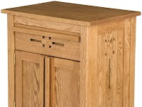 Oak Nightstands with Doors