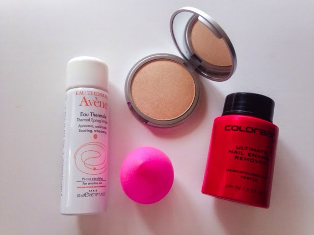 Avene Thermal Spring Water, TheBalm Mary-Lou Manizer, The original beauty blender, colorbar ultimate nail enamel remover, feelunique, nykaa.com, beautybay.com
