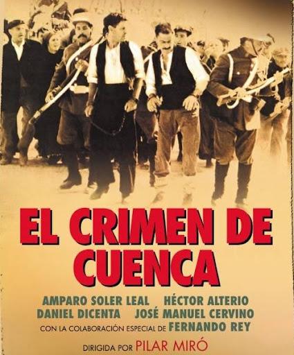 """Cartel de la película """"El Crimen de Cuenca"""", película dirigida por Pilar Miró, basada en hechos reales"""