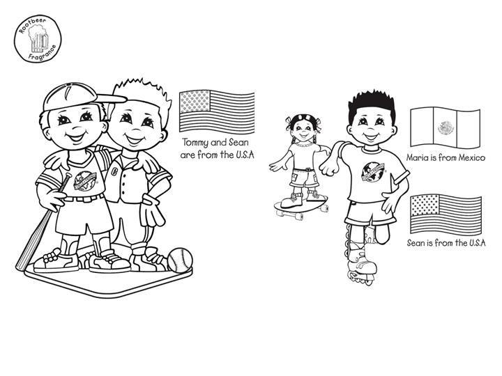 Dibujo De Nacionalidades Para Colorear: Las Misiones Y Los Niños: Dibujos Para Colorear De Niños