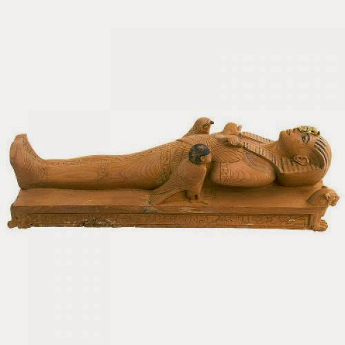 Tutankhamen Lying On A Bier