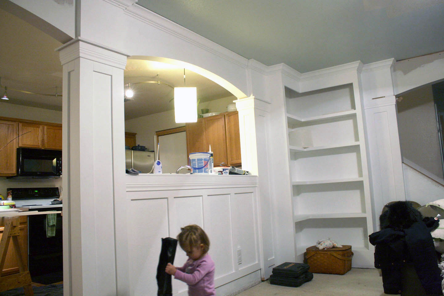 how to update built in bookcases. Black Bedroom Furniture Sets. Home Design Ideas