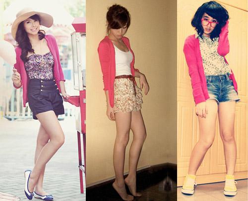 Como usar cardigã rosa com shorts