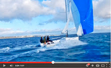 J/70 one-design speedster- sailing fast off France