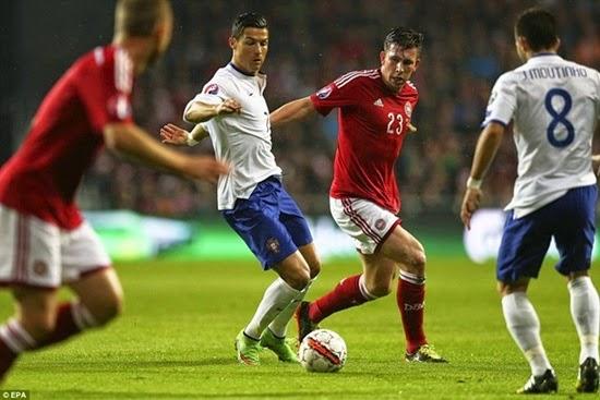 Ronaldo ghi bàn phút 95 giúp Bồ Đào Nha hạ Đan Mạch