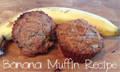 Healthy and Easy Whole Wheat Banana Muffins using Honey and Coconut Oil