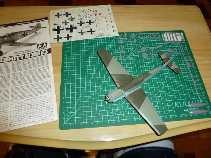 Bf-109 E-3 Tamiya 1/48 - Reforma pintura P1020396
