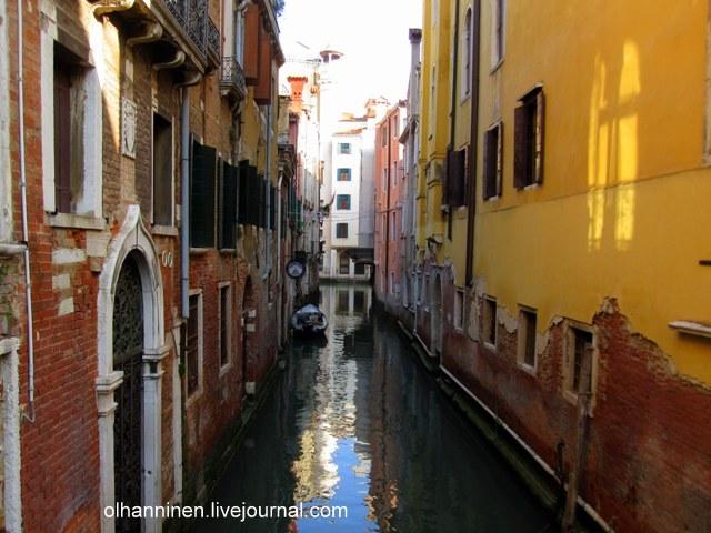 Восход солнца на венецианском канале