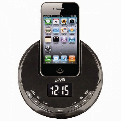 ILIVE iCP101B iPhone(R) AM/FM Alarm Clock Radio Sphere with Dock