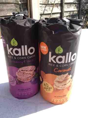 Kallo Rice Corn Cakes Blueberry Vanilla