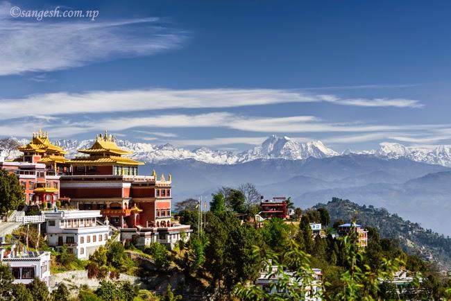 namo buddha,  Thrangu Tashi Yangtse Monastery, Nepal, Himalayas, range,