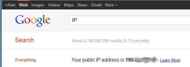 Averiguar IP en Google