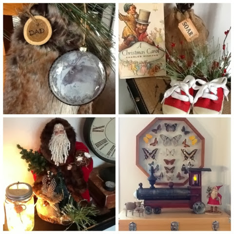 love using vintage items mixed in with my Holiday Decorating | Robin Davis Studio