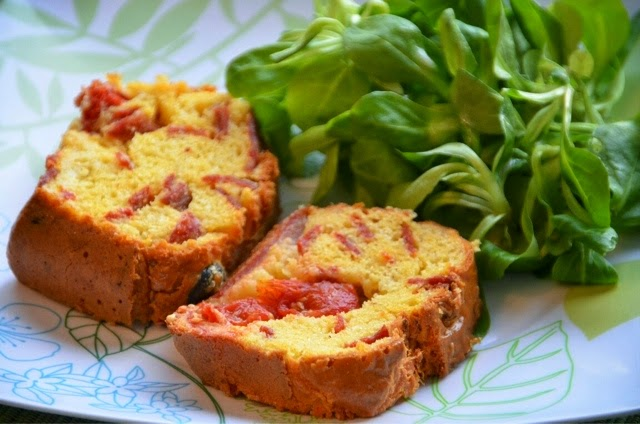 Cake Olives Tomates Cerises Chorizo
