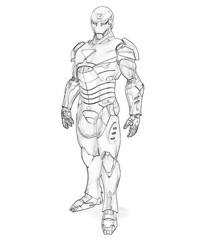 Ironman 3 coloring pages