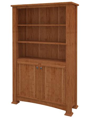 Concord Wooden Door Bookshelf in Itasca Maple