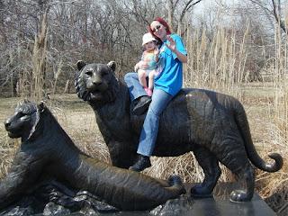 Tulsa Zoo ~ Tiger Statue