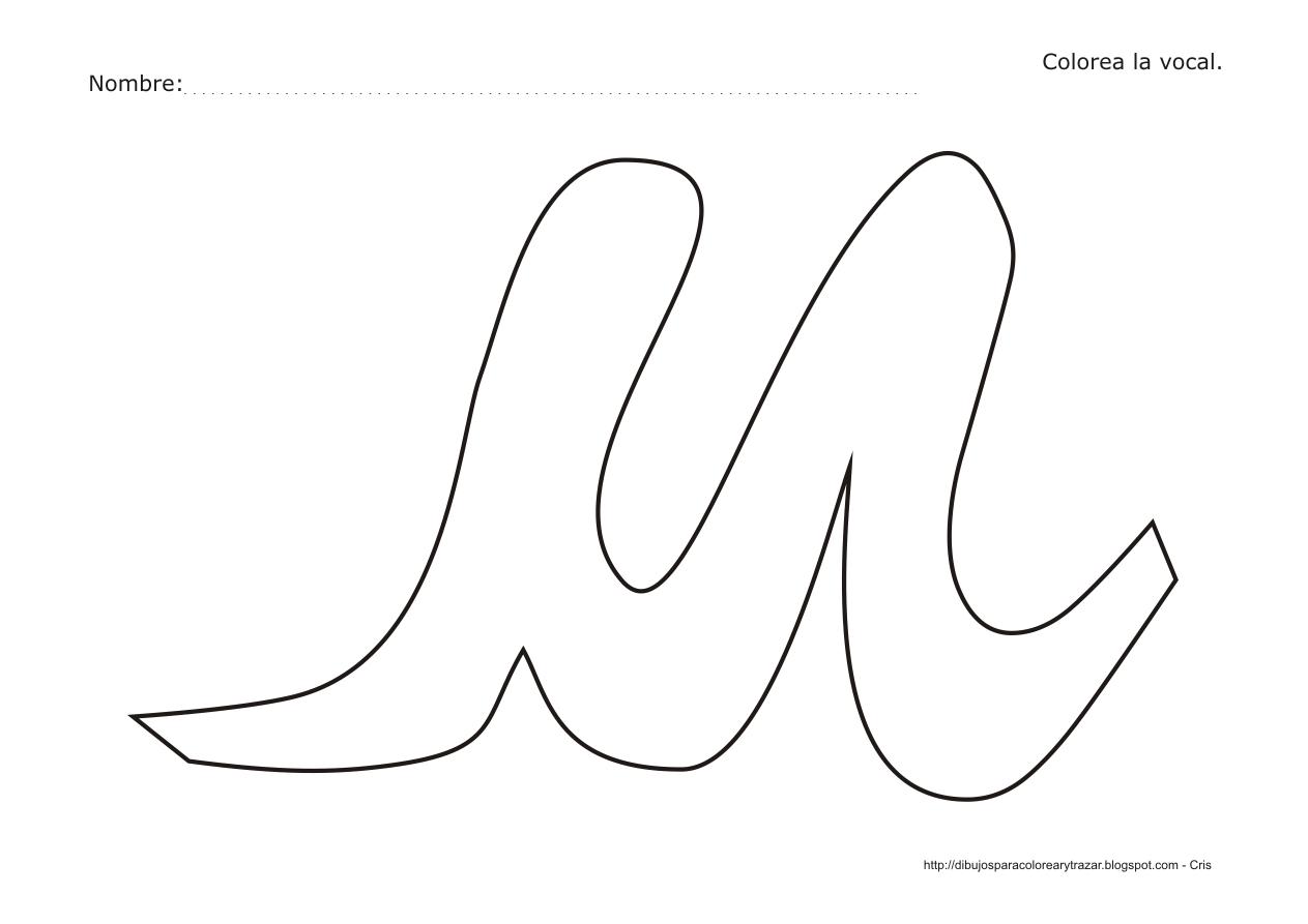 Dibujos Para Colorear Y Trazar Dibujo Para Colorear La Vocal U