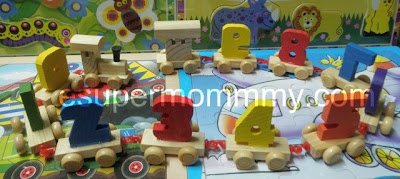 wooden toy number train