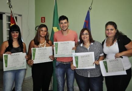 Formandos nos cursos dados no Centro de Referência Social (Cras)