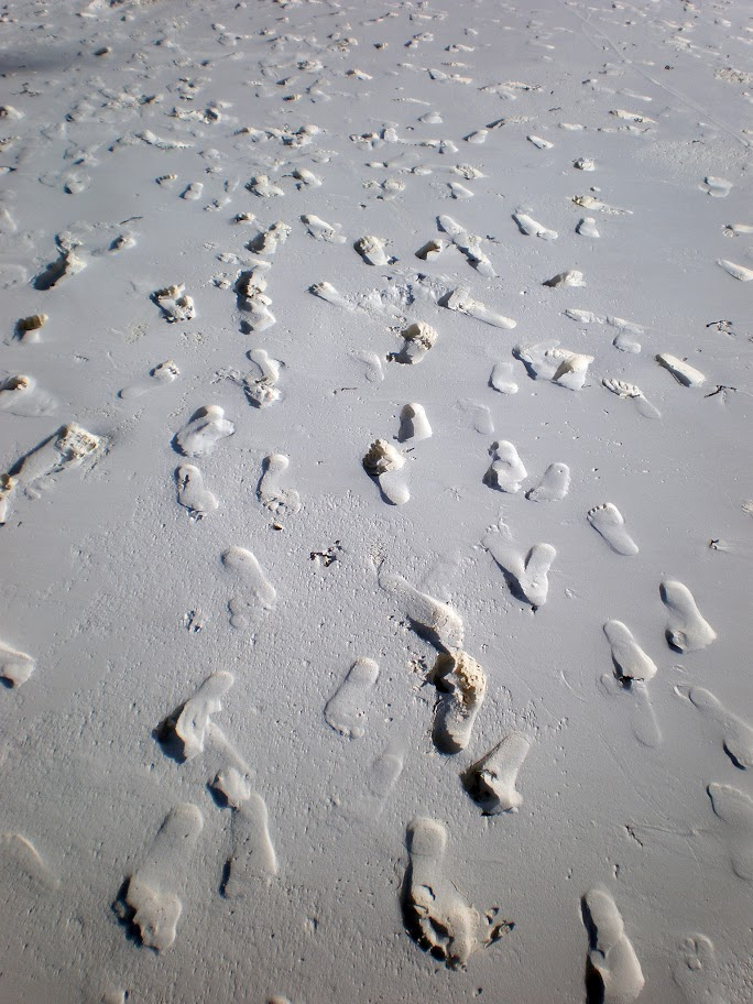 Footsteps in the sand, Matemwe beach, Zanzibar