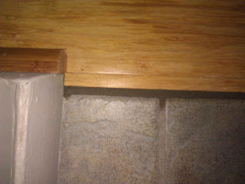 Grout Between Bamboo Flooring And Tile Marble Flooring