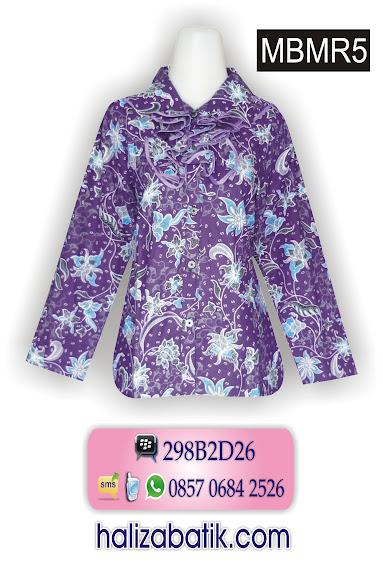 baju batik wanita, contoh desain batik, model blus batik